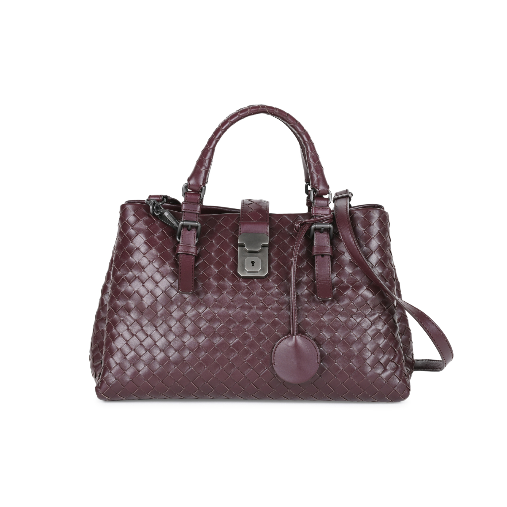 1a43b634d8 Authentic Second Hand Bottega Veneta Medium Roma Intrecciato Leather Tote  (PSS-444-00011)