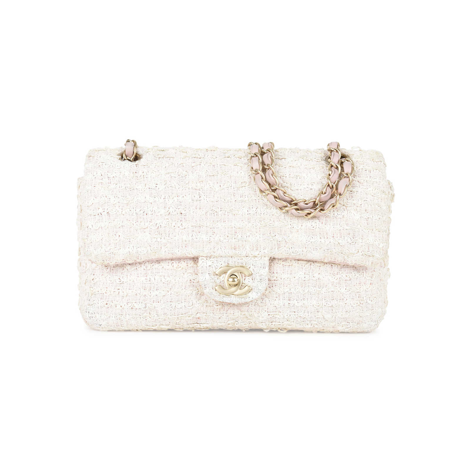 c26375006cbf Authentic Second Hand Chanel Quilted Single Tweed Flap Bag (PSS-132-00132)  ...