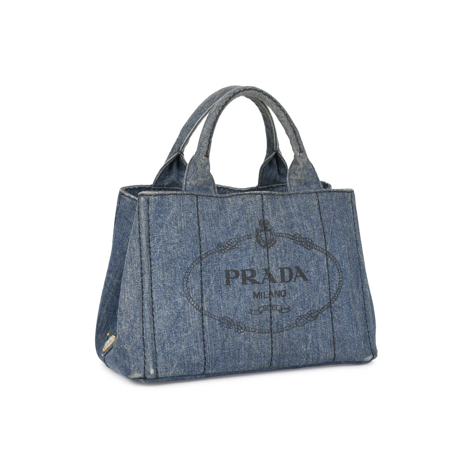 ... Authentic Pre Owned Prada Denim Logo Tote (PSS-394-00031) - Thumbnail  ... aa411199549