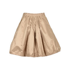 Lanvin brown flared circle skirt 2?1534228828