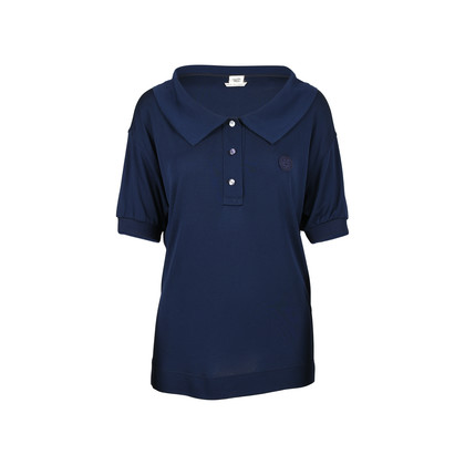 Authentic Second Hand Hermès Polo Jersey Crepe Top (PSS-520-00007)