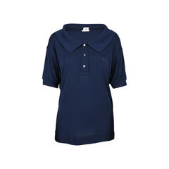Polo Jersey Crepe Top