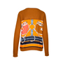 Authentic Second Hand Hermès Orange Silk Print Sweater (PSS-051-00394) - Thumbnail 1