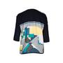 Authentic Second Hand Hermès Zip Sleeve Silk Print Blouse (PSS-051-00396) - Thumbnail 1