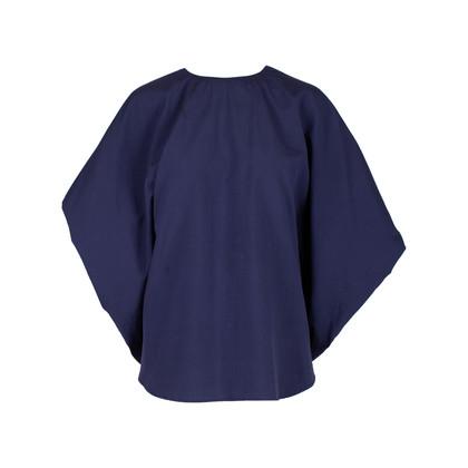 Authentic Second Hand Hermès Textured Batwing Cotton Blouse (PSS-051-00398)