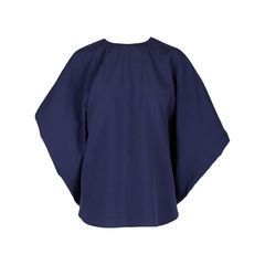 Textured Batwing Cotton Blouse