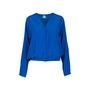 Authentic Second Hand Hermès Blue Silk Cardigan (PSS-051-00399) - Thumbnail 0