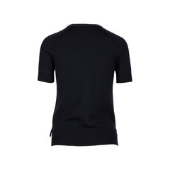 Hermes leather collar short sweater 2?1534311639