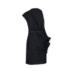 Lanvin draped dress black 2?1534409870