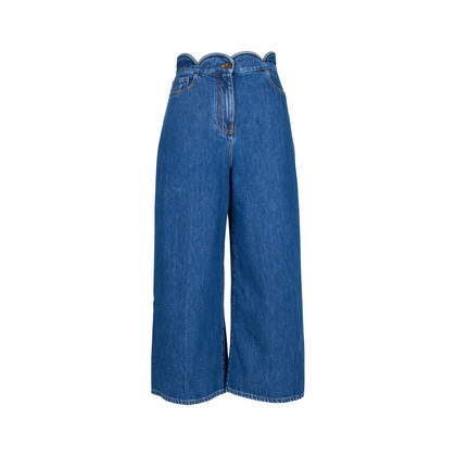 Authentic Second Hand Valentino Scalloped Denim Jeans (PSS-051-00406)