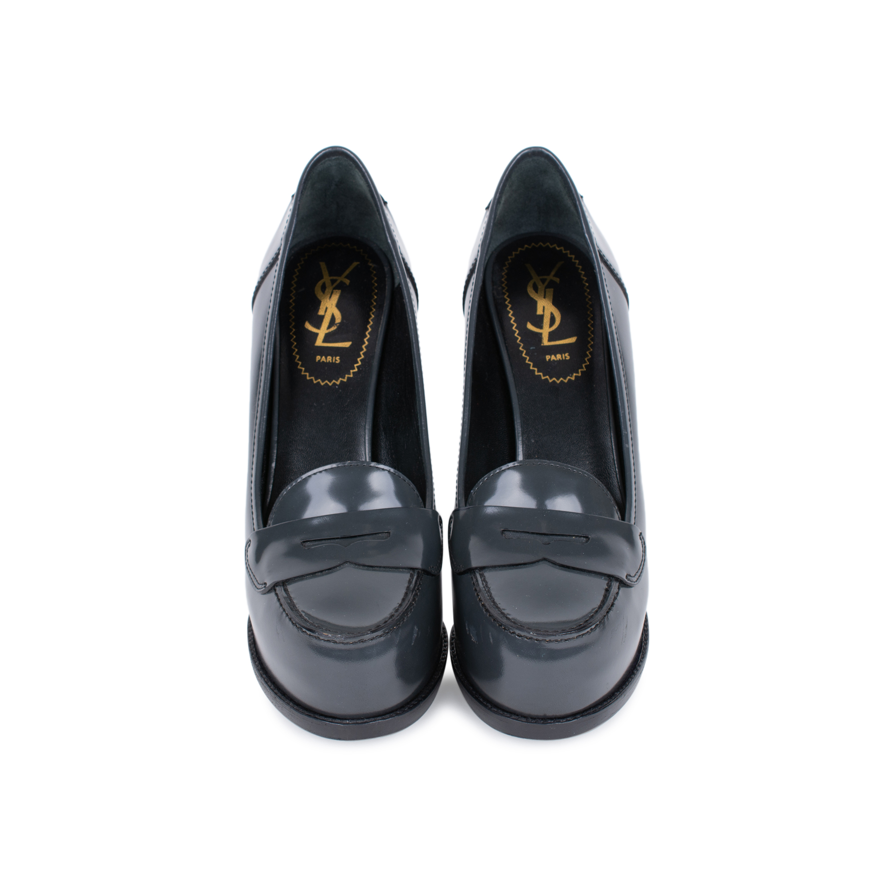 2cde928ac Authentic Second Hand Yves Saint Laurent Penny Loafer Platform Pumps  (PSS-497-00004)