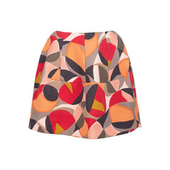 Printed Flare Skirt