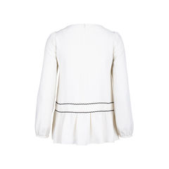 Red valentino blouse with black trims 2?1534740540