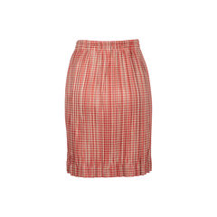 Issey miyake pleated checked skirt 2?1534740577