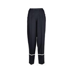 Stripe Hem Silk Trousers