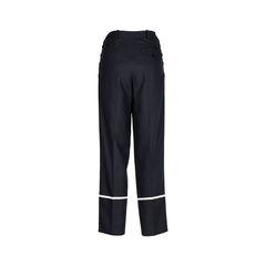 Hermes stripe hem silk trousers 2?1534754677
