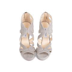 Suede Collar Stud Sandals