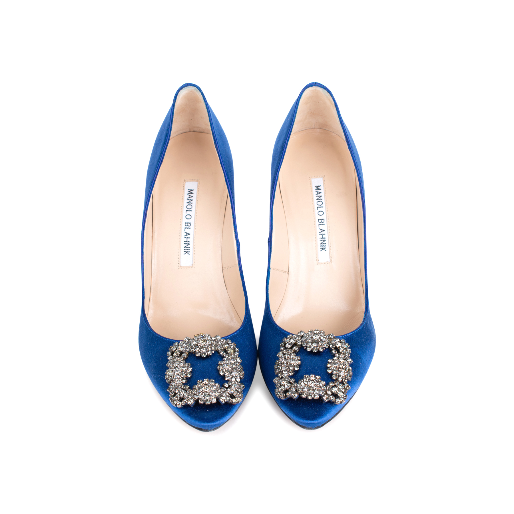 3a38918b1ed6 Authentic Second Hand Manolo Blahnik Blue Hangisi Pumps (PSS-544-00011)