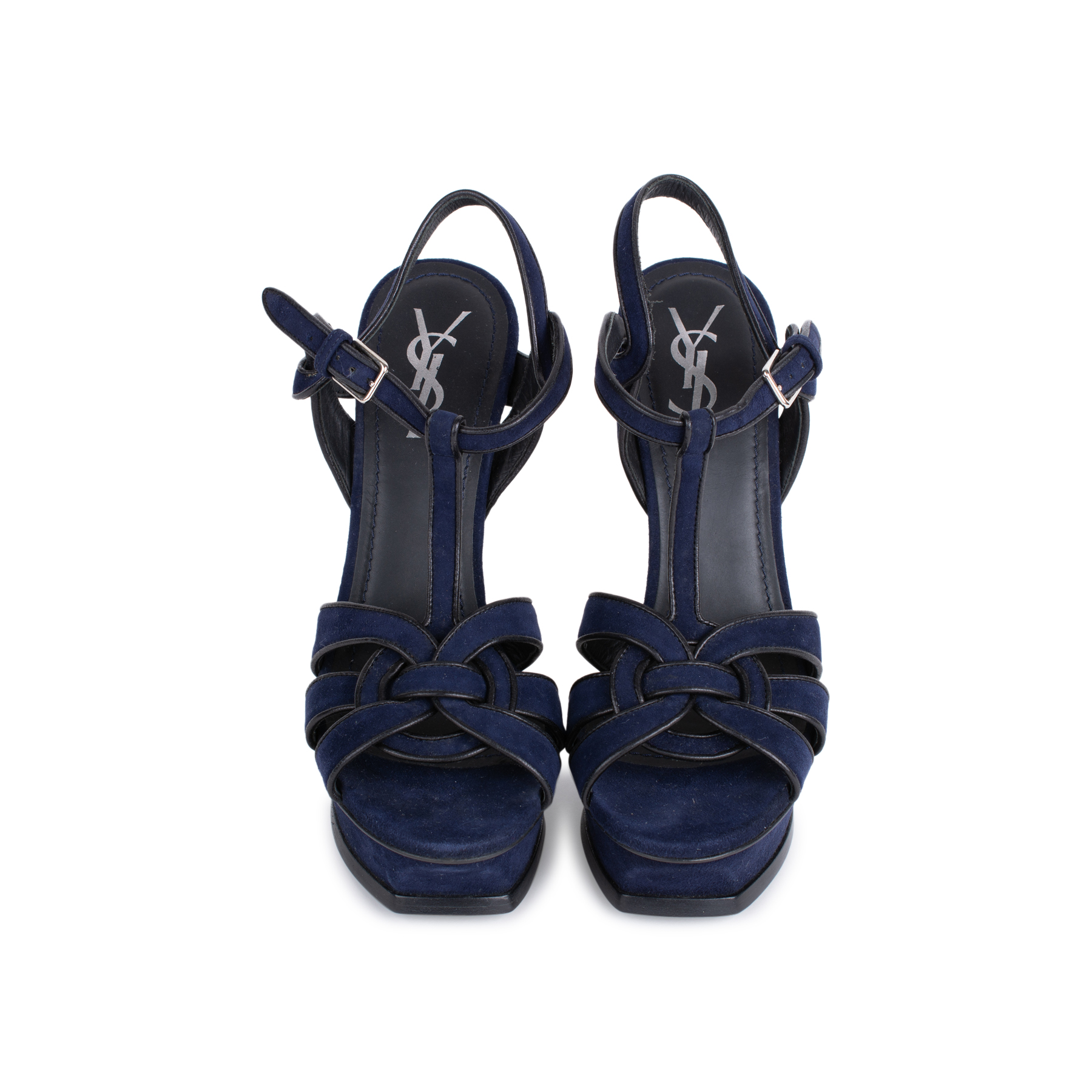 cfc4d534fe Authentic Second Hand Yves Saint Laurent Tribute Suede Sandals  (PSS-544-00007) - THE FIFTH COLLECTION