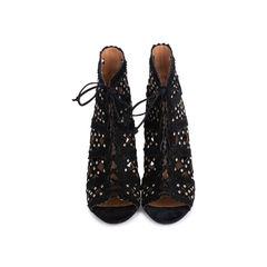Laser Cut Suede Sandals
