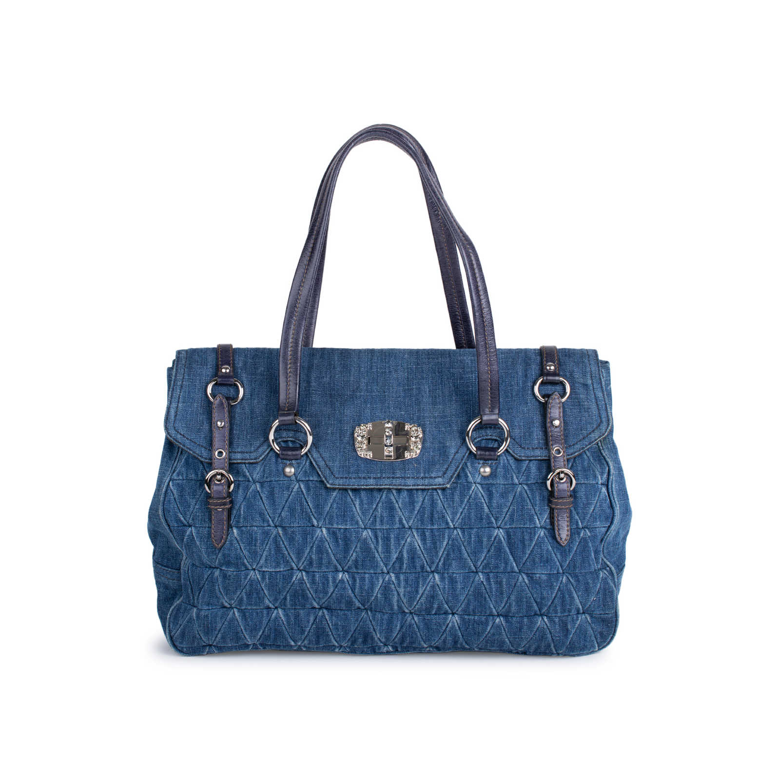 Authentic Pre Owned Miu Miu Denim Quilted Bag (PSS-333-00024) ... bbccf558c0fac