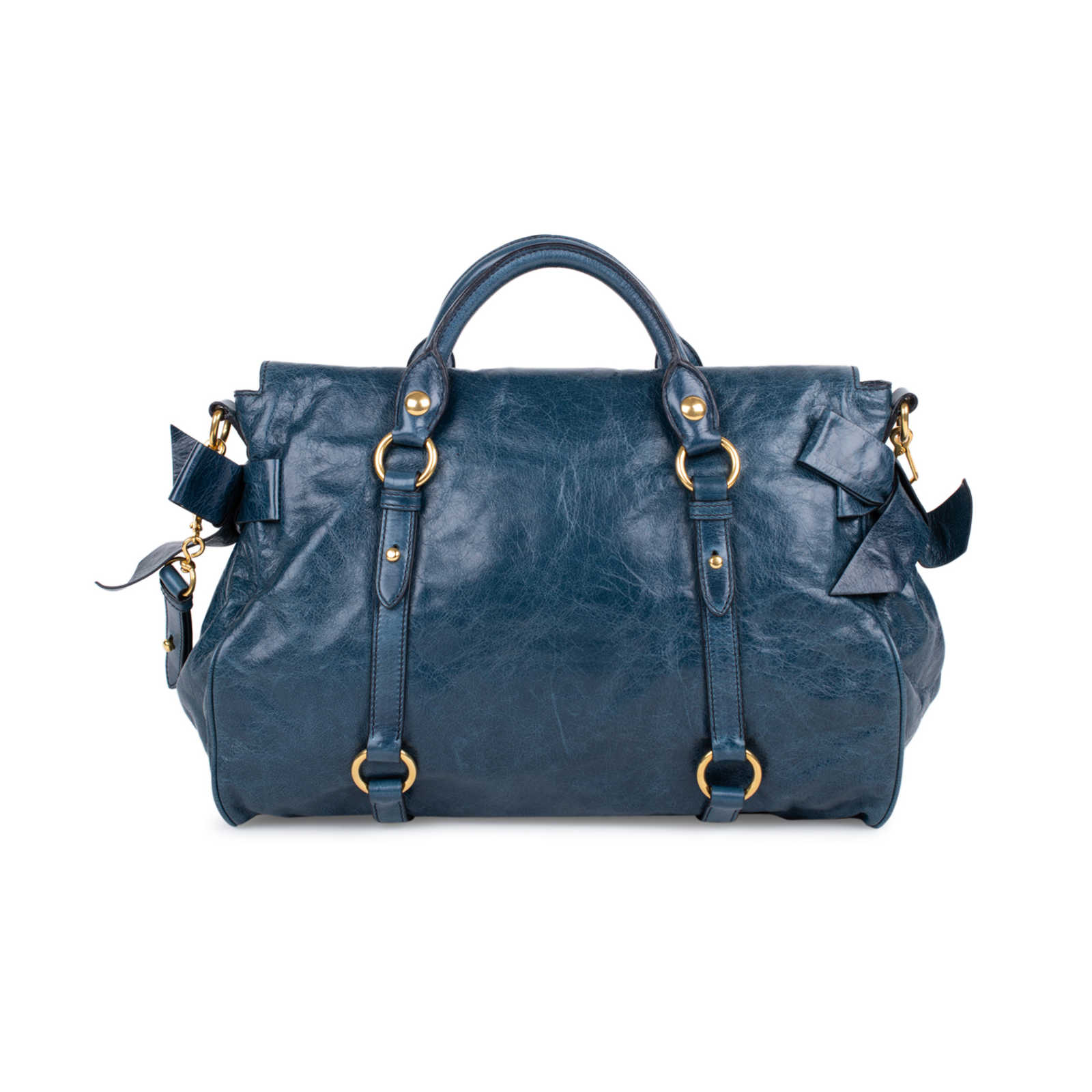 2f1ea50138520 ... Authentic Second Hand Miu Miu Vitello Lux Bow Bag (PSS-333-00032) ...