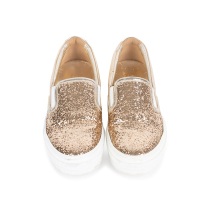Authentic Pre Owned Salvatore Ferragamo Pacau Glitter Slip Ons (PSS-333-00035)