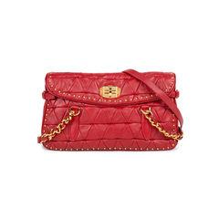Studded Quilt Flap Bag