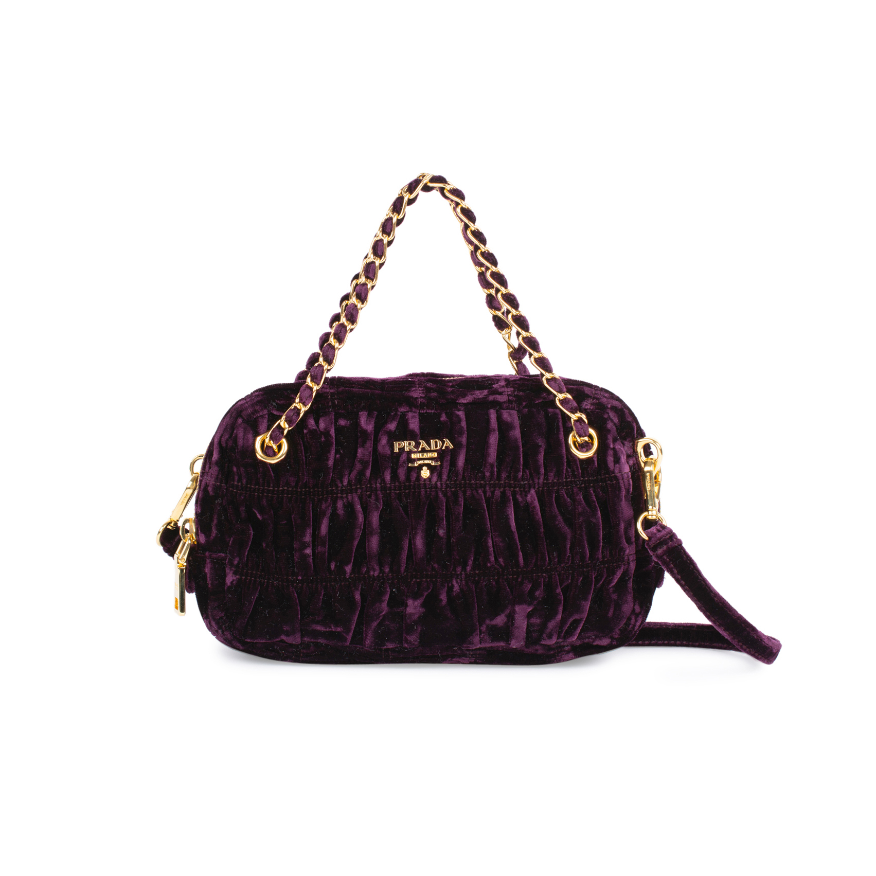 7d898e82c3 Authentic Second Hand Prada Velutto Sera Camera Bag (PSS-333-00046) - THE  FIFTH COLLECTION
