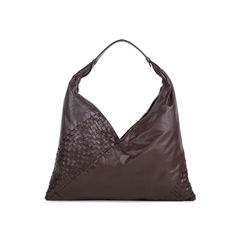 Panelled Intrecciato Shoulder Bag