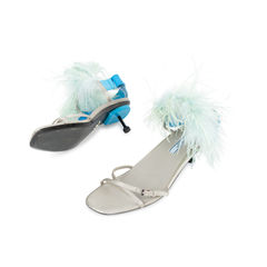Prada feather slingback sandals 2?1535525153