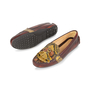 Authentic Second Hand Car Shoe Python-Embossed Loafers (PSS-356-00032) - Thumbnail 1