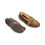 Authentic Second Hand Car Shoe Python-Embossed Loafers (PSS-356-00032) - Thumbnail 2