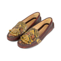 Authentic Second Hand Car Shoe Python-Embossed Loafers (PSS-356-00032) - Thumbnail 3