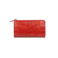 Crocodile-Embossed Wallet