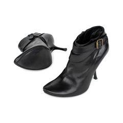 Alexander mcqueen curve heel booties black 2?1535694732