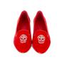 Authentic Second Hand Alexander McQueen Velvet Skull Loafers (PSS-370-00088) - Thumbnail 0