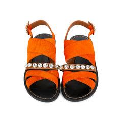Calf Hair Slingback Sandals