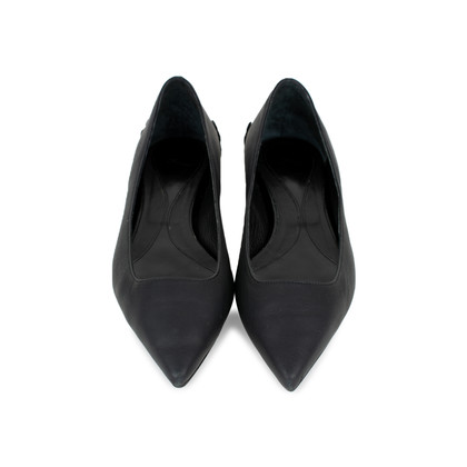 Authentic Second Hand McQ Alexander Mcqueen Ada Edge Brocade Heel Leather Flats (PSS-370-00090)