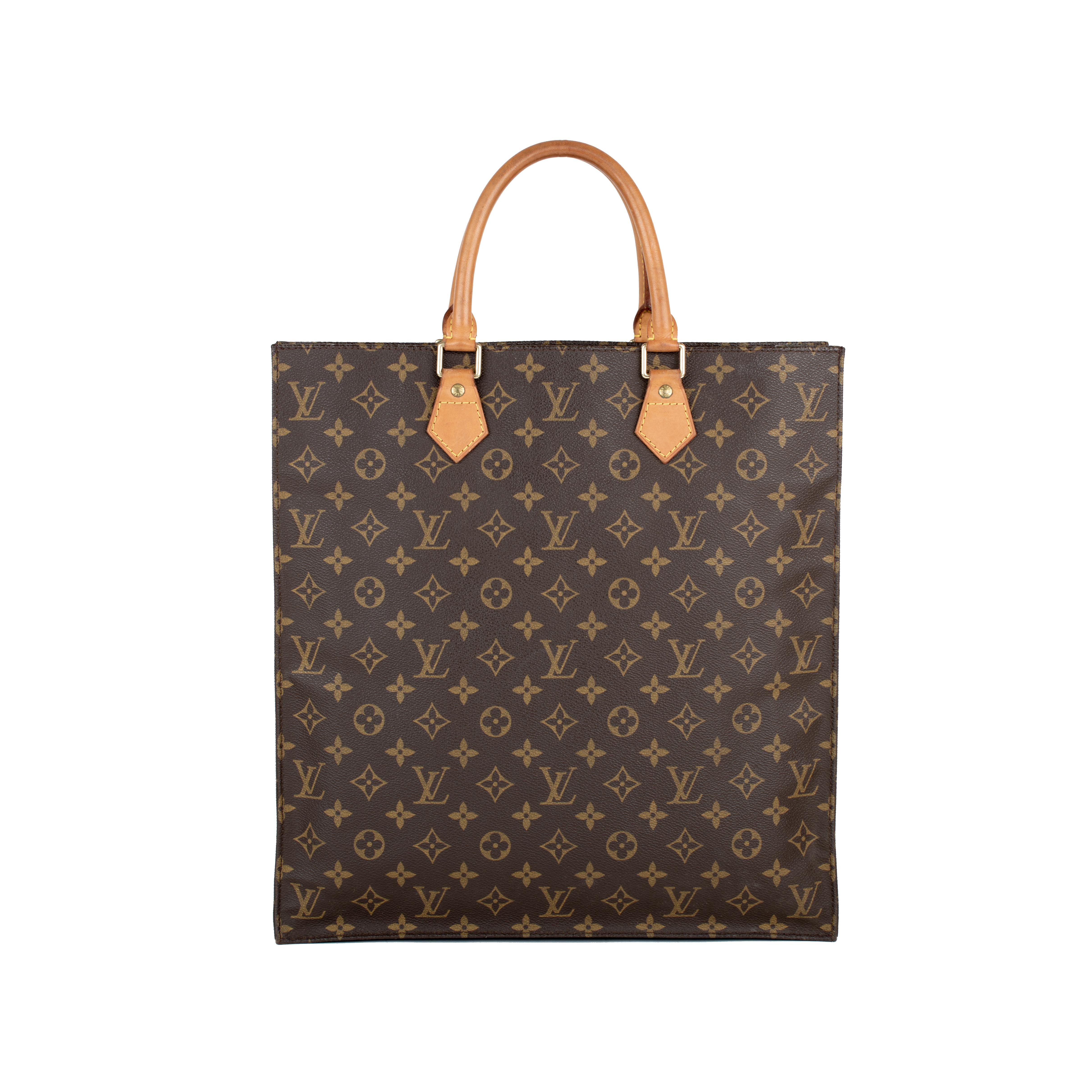 19e8d0e10b86 Authentic Second Hand Louis Vuitton Monogram Sac Plat Tote Bag  (PSS-430-00002)
