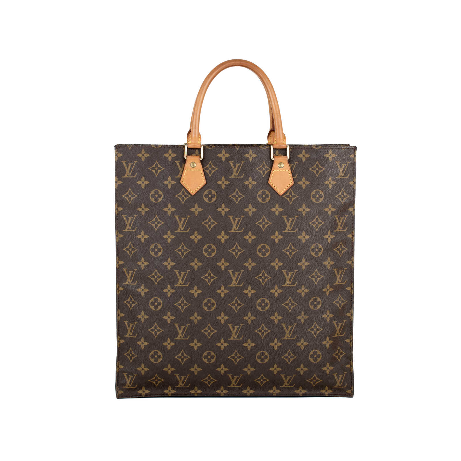 f52734ee74b7 Tap to expand · Authentic Second Hand Louis Vuitton Monogram Sac Plat Tote  Bag (PSS-430-00002 ...