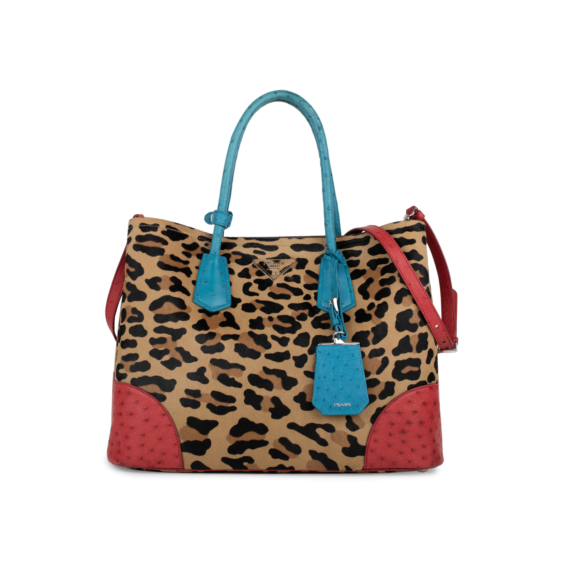 fa0395111c ... wholesale second hand prada calf hair ostrich tote the fifth collection  81df4 1f023