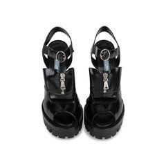 Zip Up Platform Sandals
