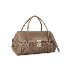 Miu miu matelasse leather satchel neutral 2?1535957020
