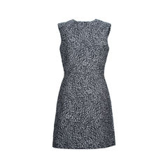 Wool Blend Jacquard Dress