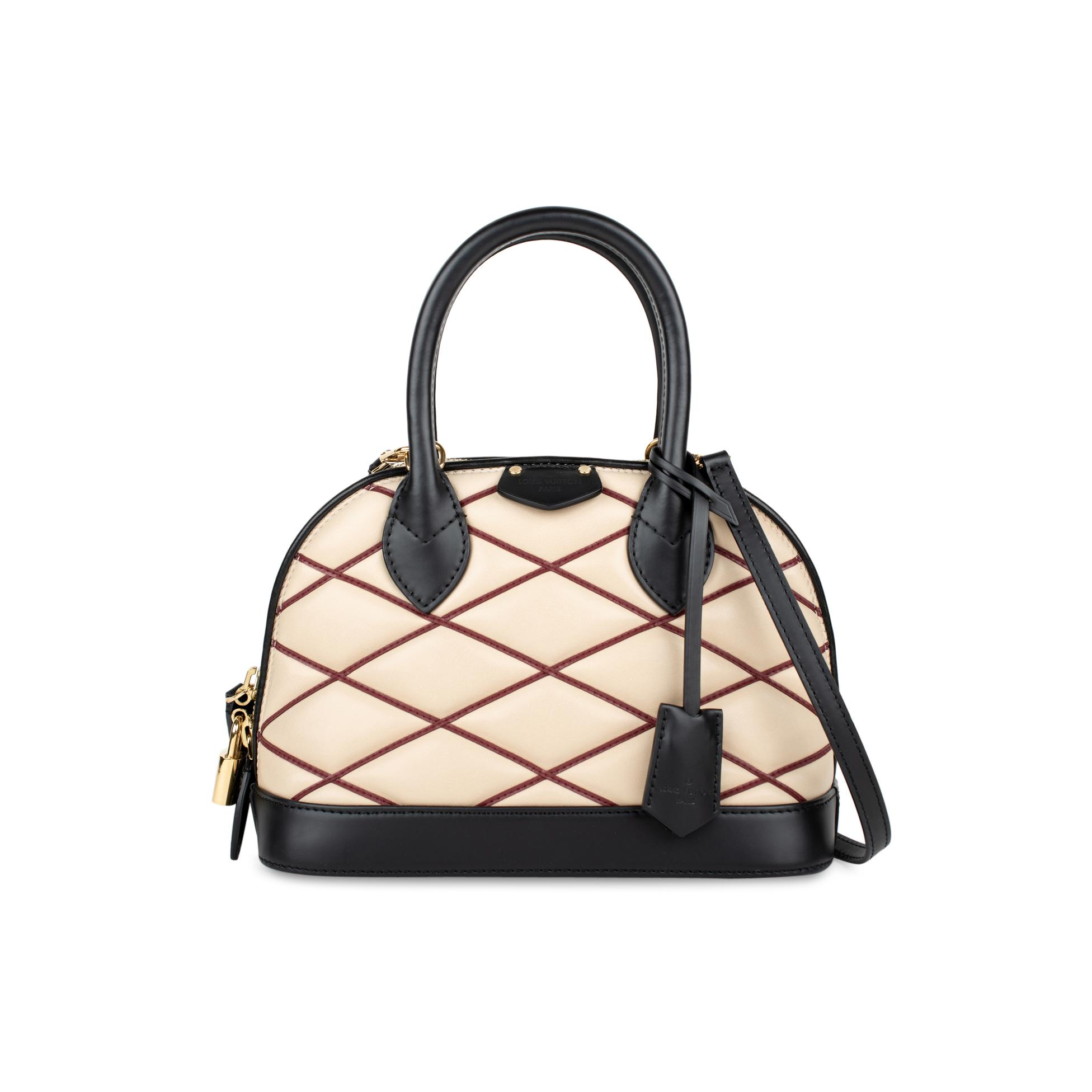 Authentic Second Hand Louis Vuitton Malletage Alma BB Bag (PSS-240-00226)  0d2b008933a39