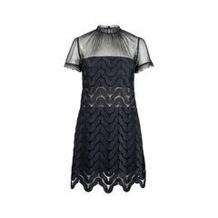 Evie Wave-Lace Minidress