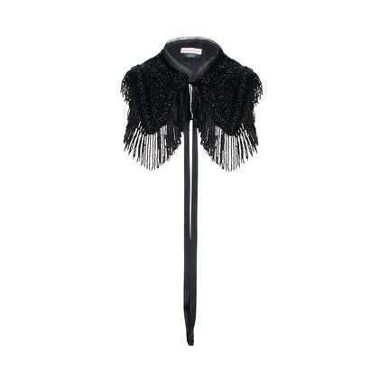 Authentic Pre Owned Dries Van Noten Beaded Fringe Bib (PSS-240-00233)