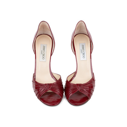 Authentic Second Hand Jimmy Choo Ruched D'Orsay Pumps (PSS-240-00241)