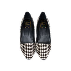 Decollete Virgule Houndstooth Pumps